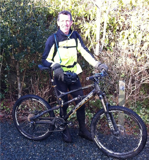 MTB-ing in Cornwall in Feb.....FREEZING!